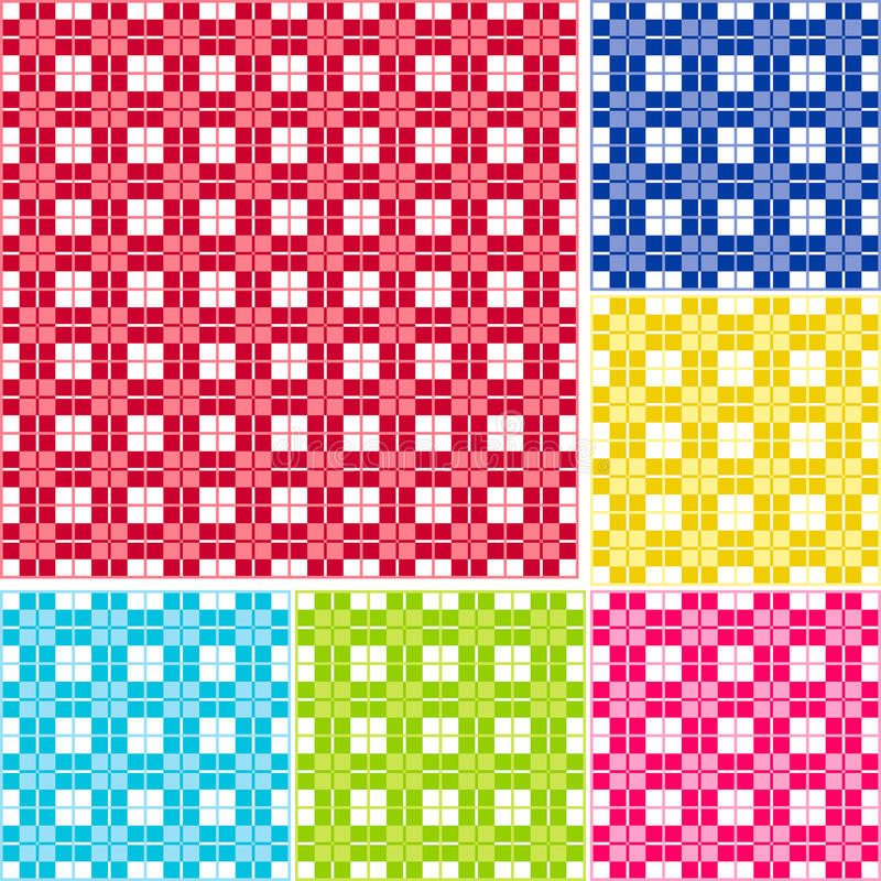 Seamless Gingham, Six colors