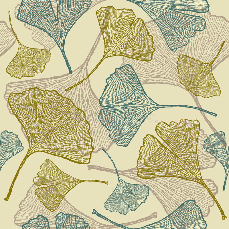 Free Seamless Ginkgo Background Royalty Free Stock Image - 10707006
