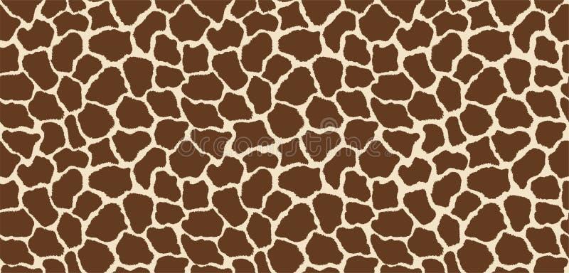 Seamless giraffe pattern skin texture repeating seamless color. Vector. Texture giraffe. Fashionable print. stock photo