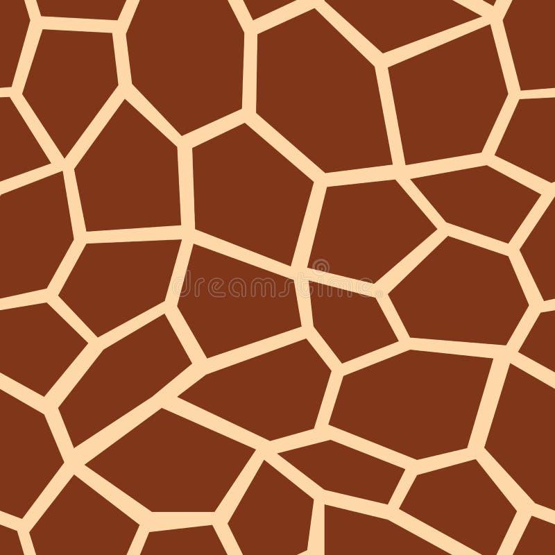 seamless giraffmodell Bruna girafffläckar Populärt texturera vektor illustrationer