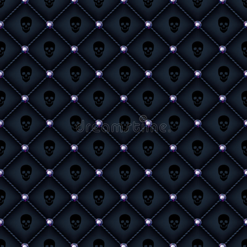 Free Seamless Glam Black Quilted Background. Royalty Free Stock Photo - 45945385