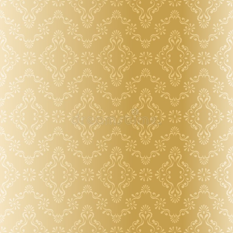 Download Seamless Gold Filigree Pattern Stock Vector - Image: 9026695