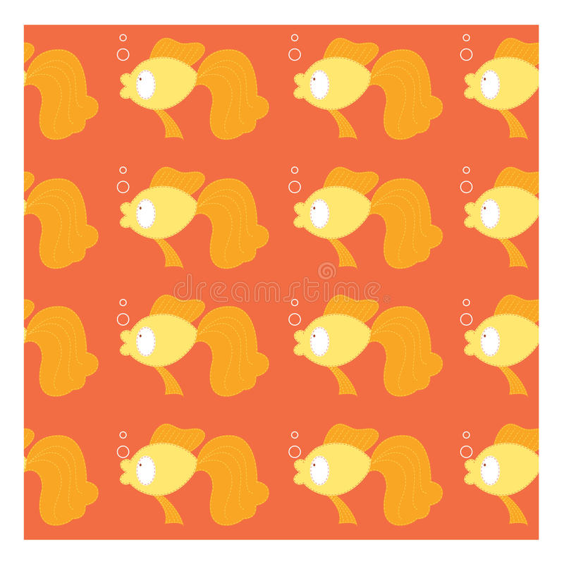 Seamless of gold fish royalty free stock photos