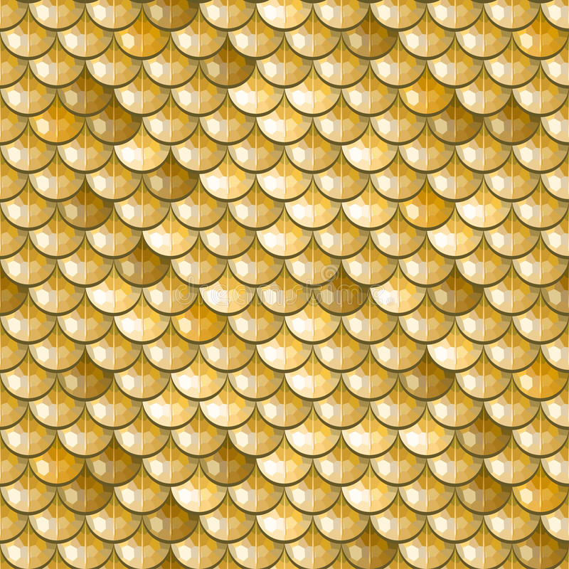 Free Seamless Gold River Fish Scales Stock Photos - 56032823