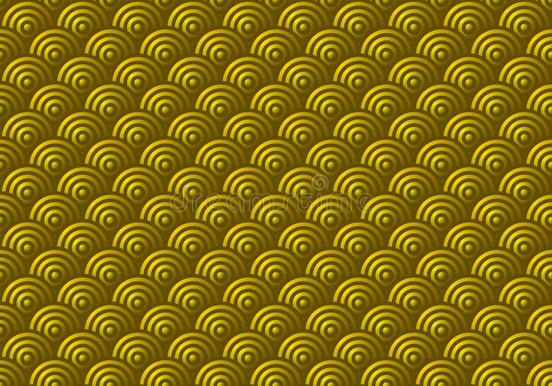 Download Seamless Gold Scales Pattern Stock Vector - Image: 10137310