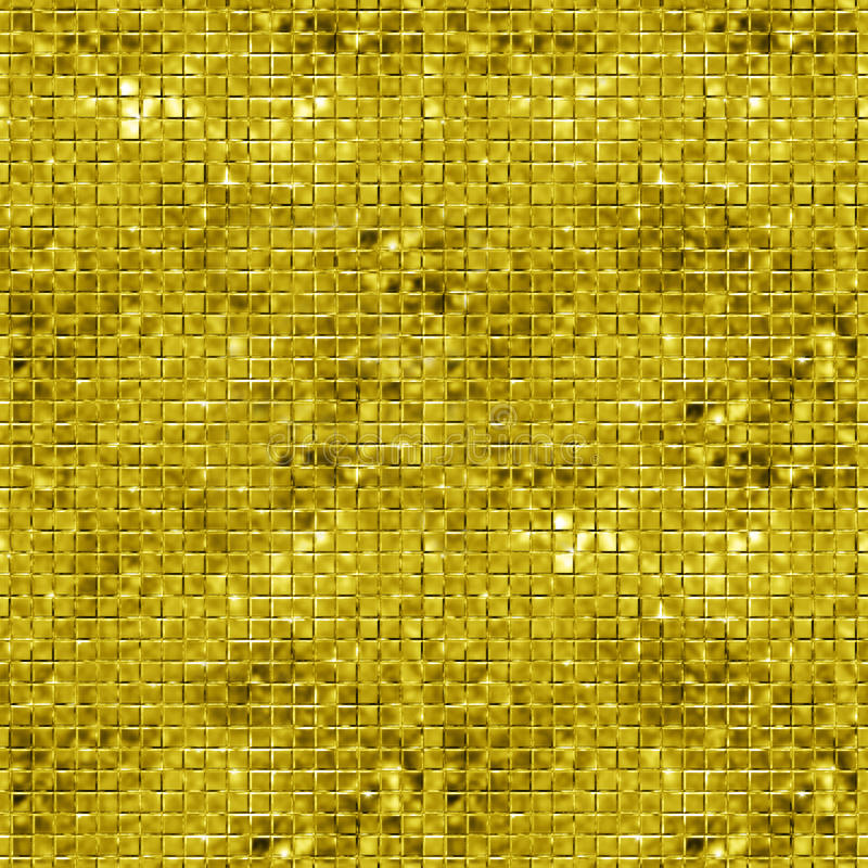 Seamless gold sparking and glittering mosaic background vector illustration