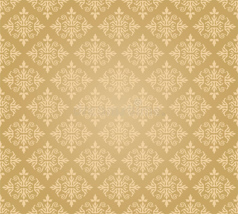 Download Seamless Golden Floral Wallpaper Pattern Stock Vector - Image: 29930890