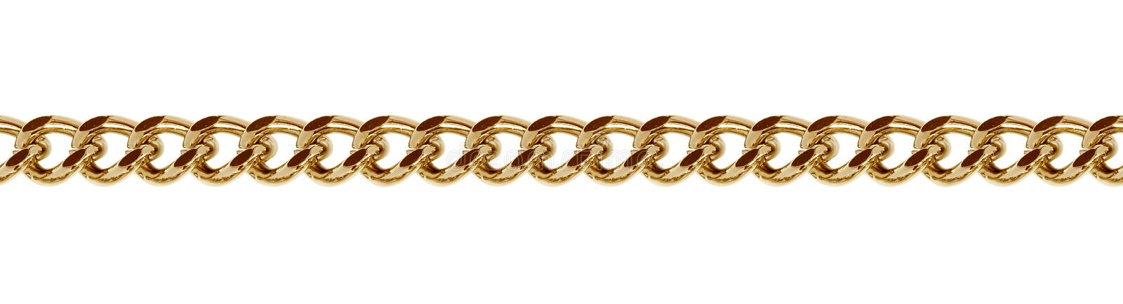 Seamless golden metal chain royalty free stock images