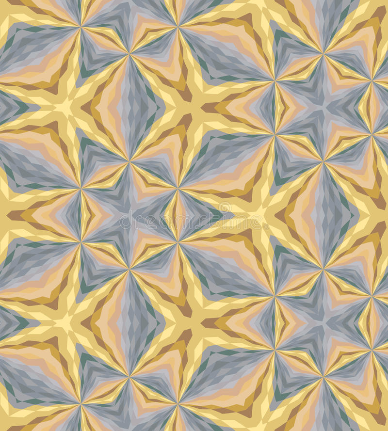 Seamless Golden and Silver Colored Polygonal Pattern. Metal Colored Geometric Abstract Background. royalty free illustration