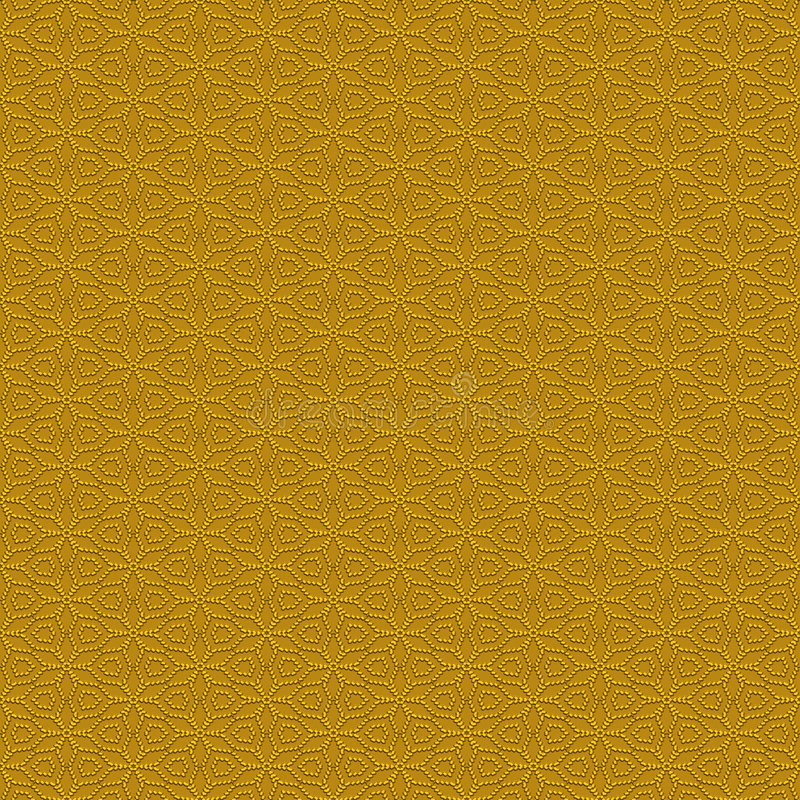 Free Seamless Golden Spikes Pattern Royalty Free Stock Photo - 8366615