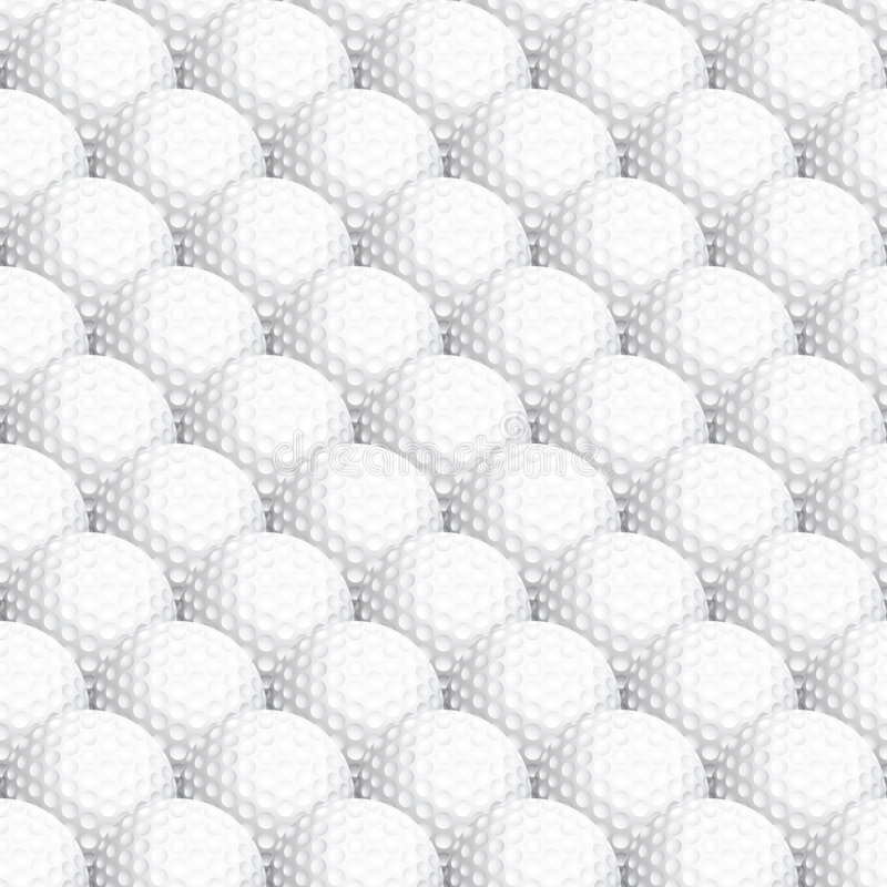 Download Seamless Golf Ball Background Stock Vector - Image: 7683390