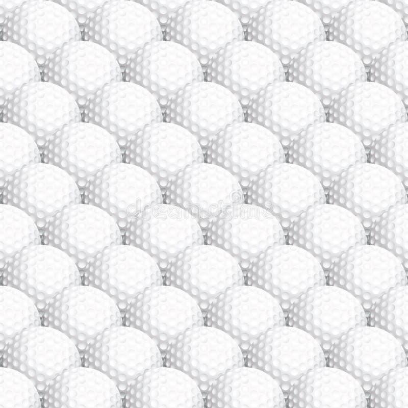 Seamless golf ball background royalty free illustration