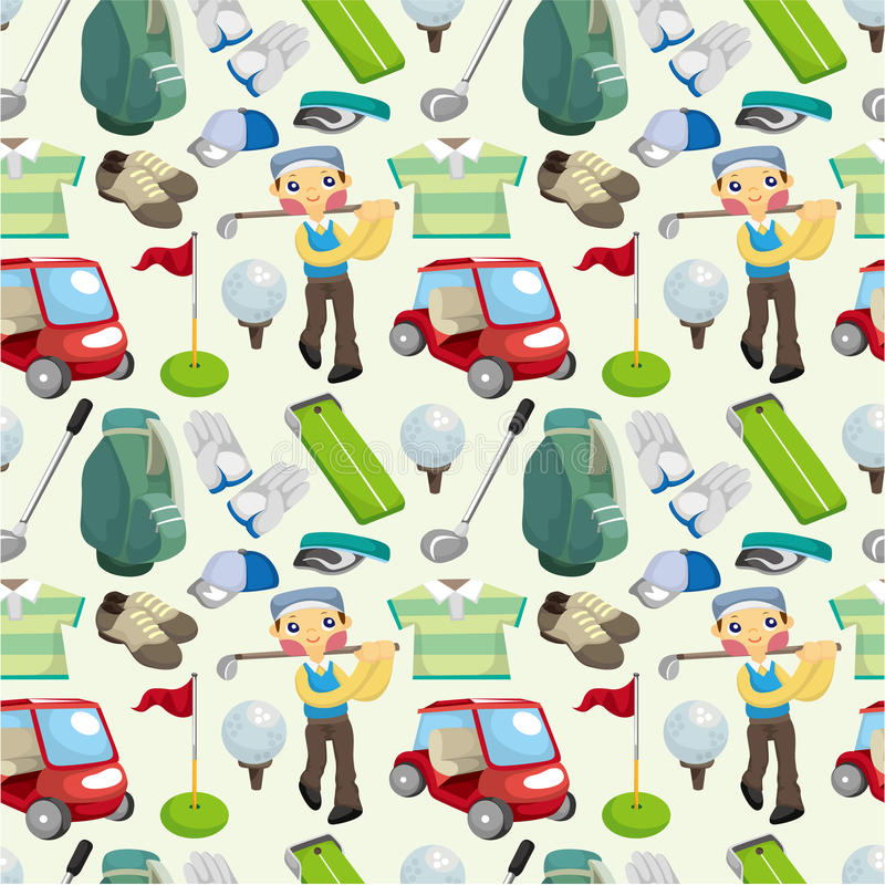 Download Seamless golf pattern stock vector. Illustration of equipment - 19241106