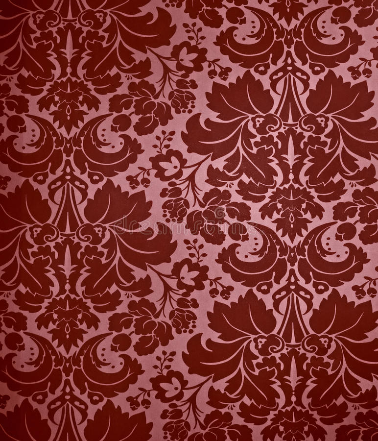 Seamless Gothic Damask wallpaper background.  royalty free stock photography