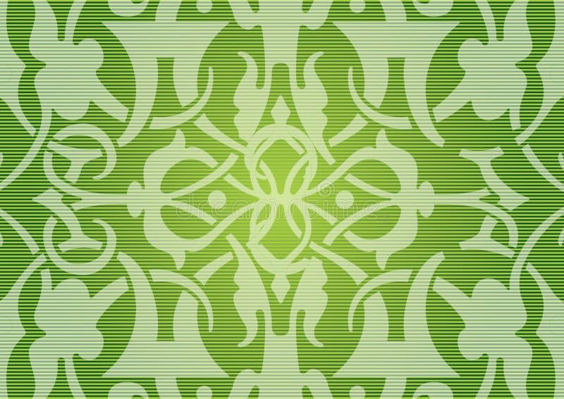 seamless grön modell royaltyfri illustrationer