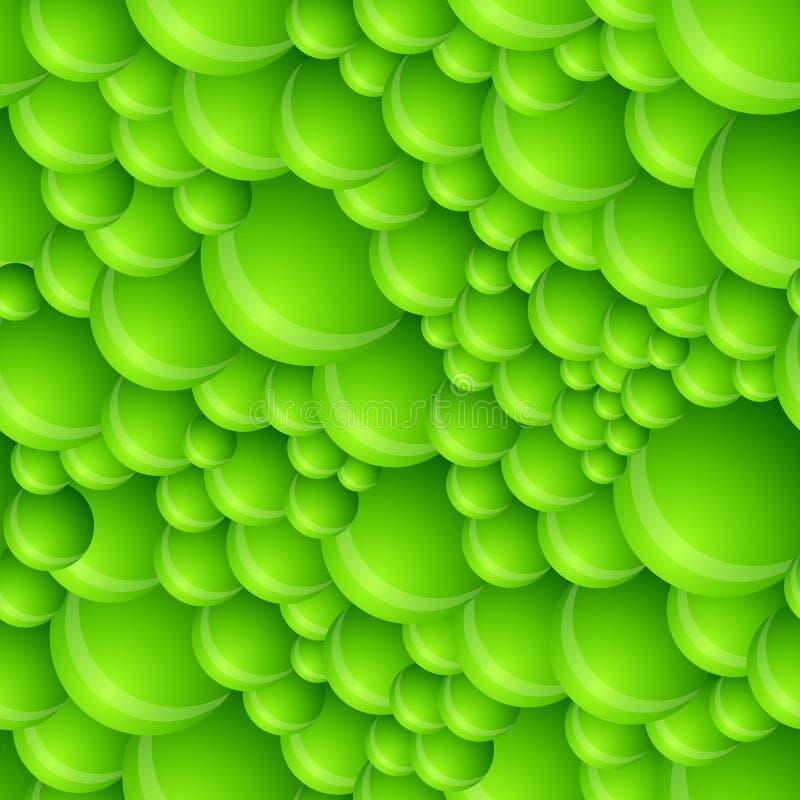 seamless grön modell för bubbla vektor illustrationer
