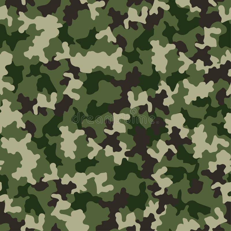 seamless grön modell för kamouflage Militärt mode, tygdesign leaves för illustration för bakgrundsblommor mjölkar nya vektorn royaltyfri illustrationer