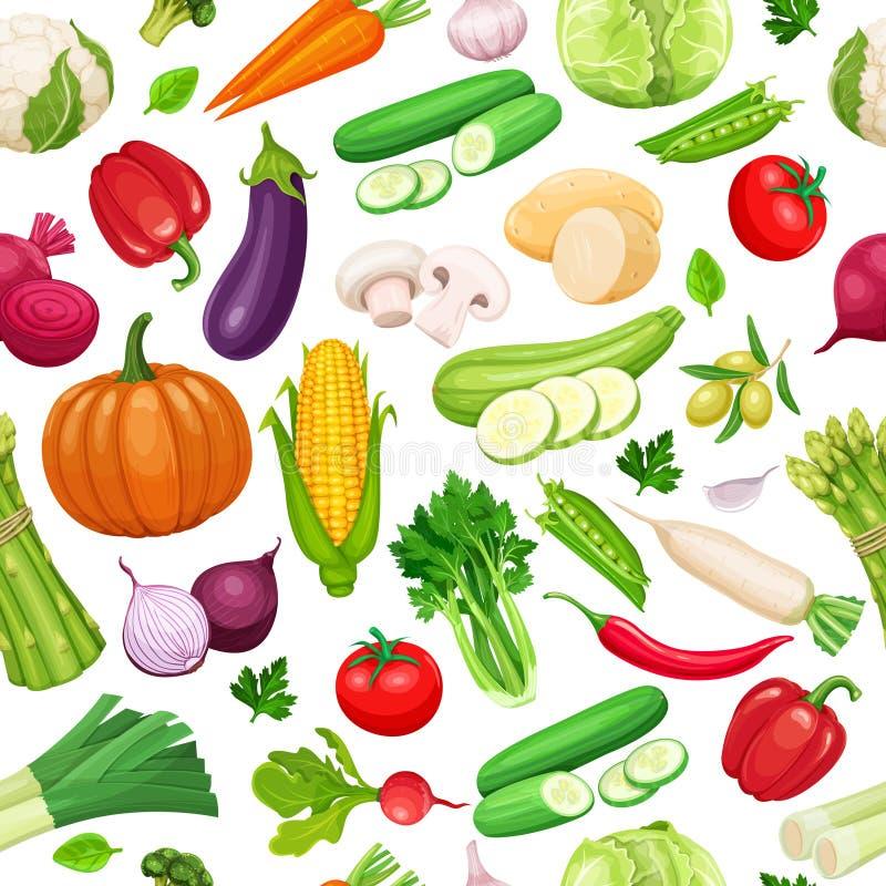 seamless grönsaker för modell royaltyfri illustrationer