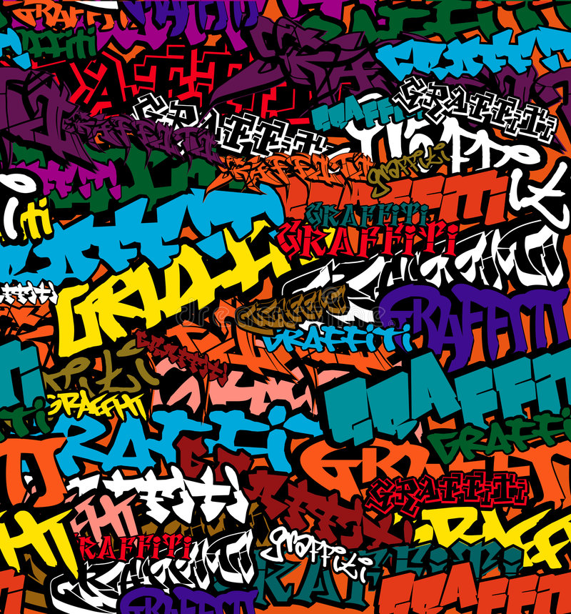 Seamless Graffiti Color Background vector illustration