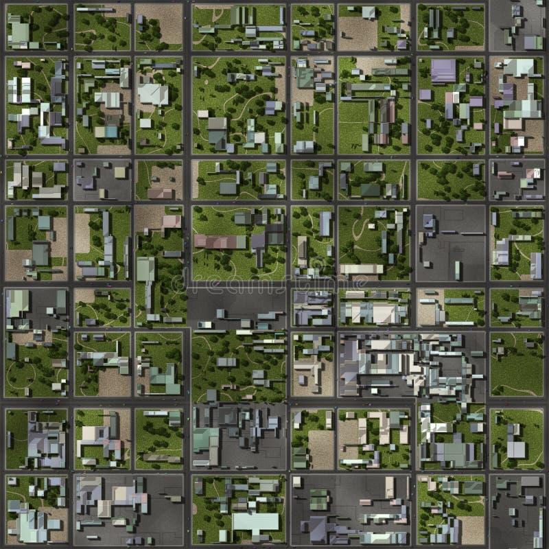 Seamless Grannskap Arkivbild