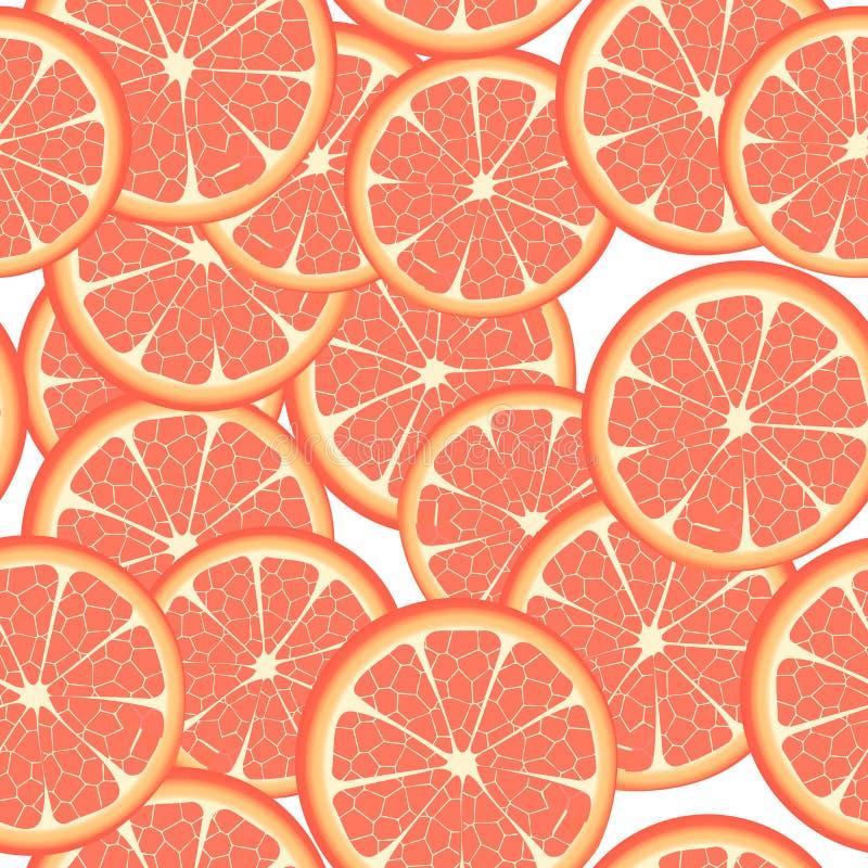 Download Seamless grapefruit stock vector. Image of sliced, breakfast - 17419098