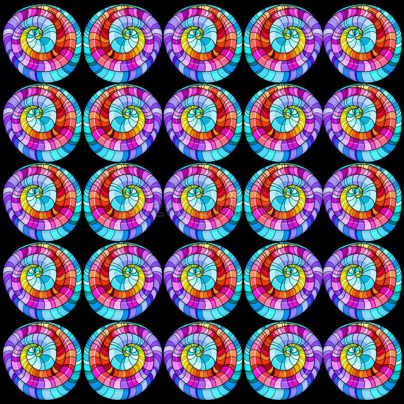 Seamless Graphic Pattern Colored Curls. Royalty Free Stock Images