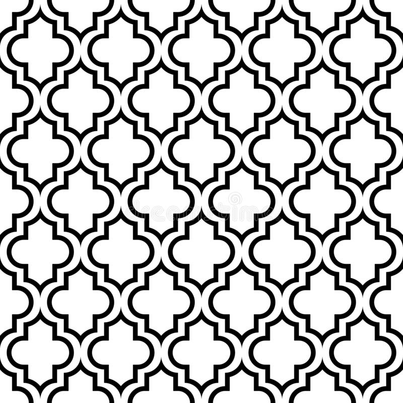 Seamless Graphic Pattern Oriental Black And White stock illustration