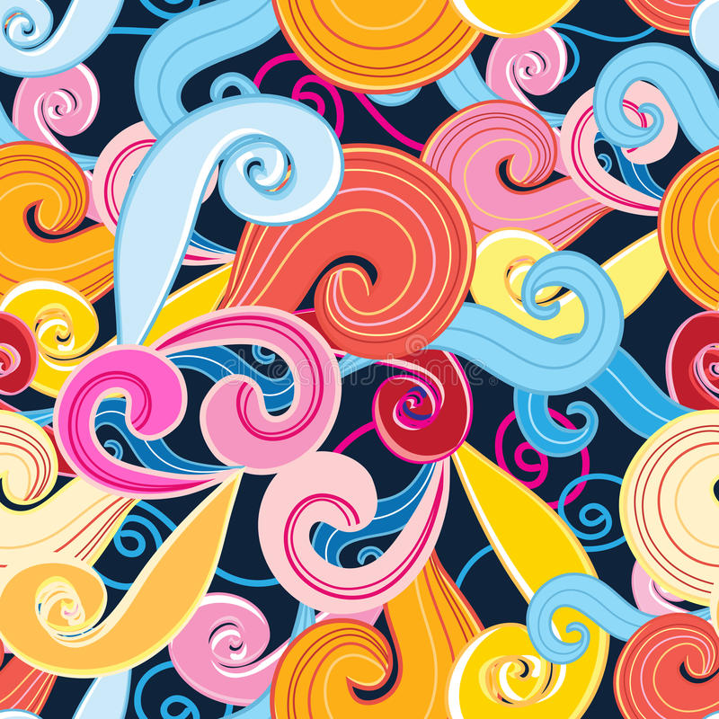 Seamless graphic pattern of waves royalty free illustration