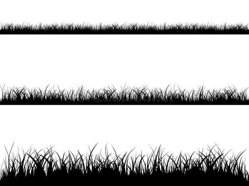 Seamless grass silhouette vector illustration