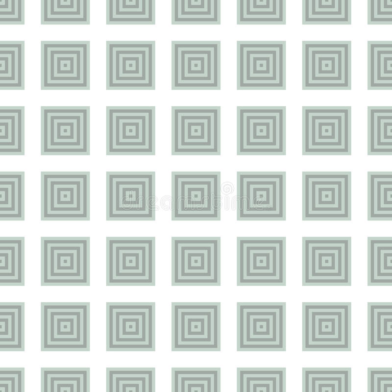 Seamless Green Abstract Modern Pattern. Created from square intersections stock illustration