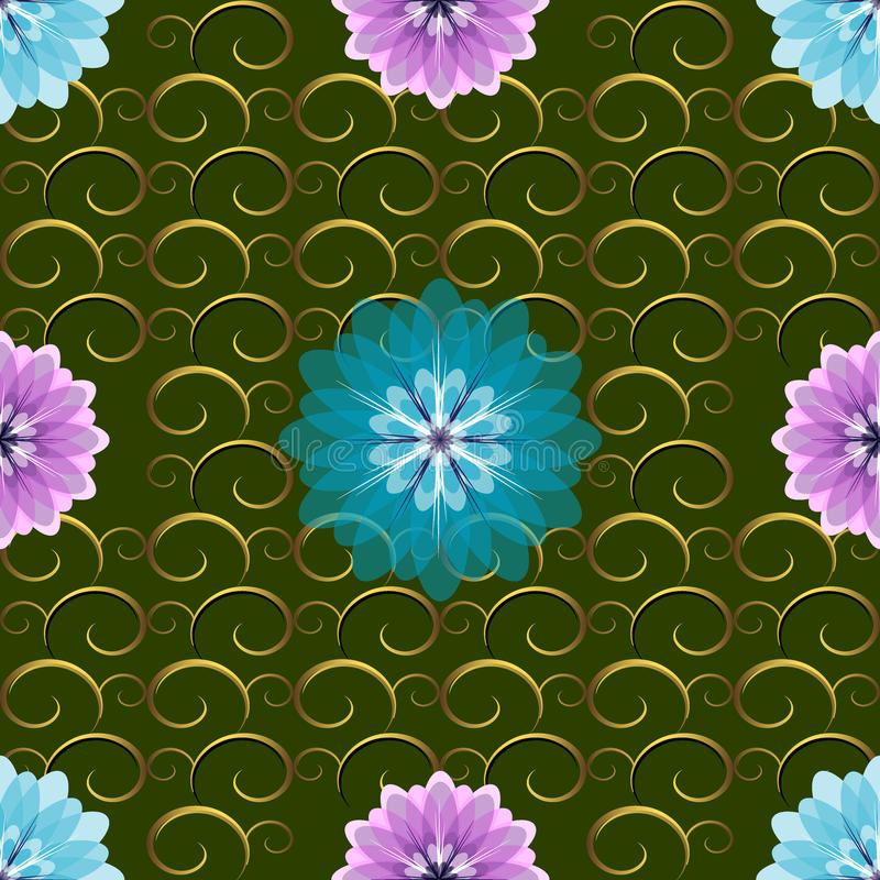 Download Seamless Green Floral Pattern Stock Vector - Image: 13315535
