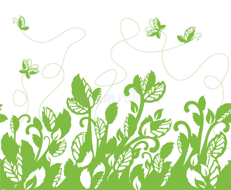 Download Seamless Green Foliage Border Stock Vector - Image: 19237729