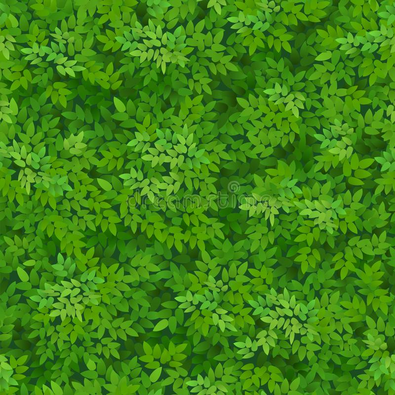 Seamless green foliage pattern. Green leaves background. Floral decor. vector illustration