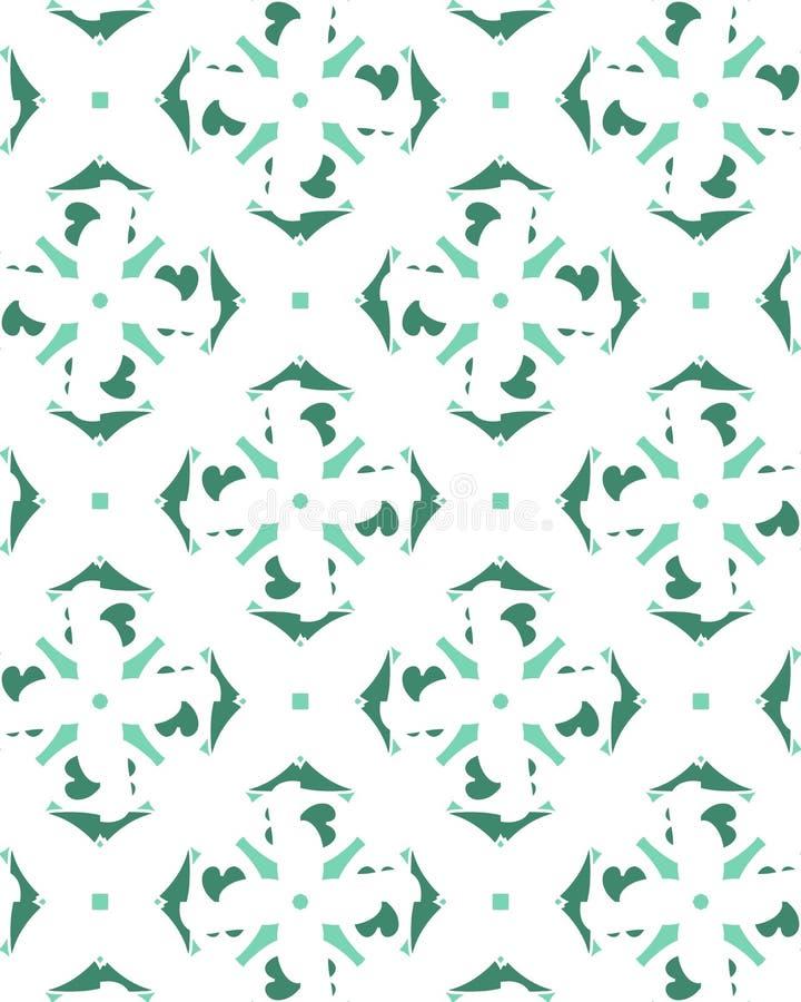 Seamless green herringbone pattern vector.  stock illustration