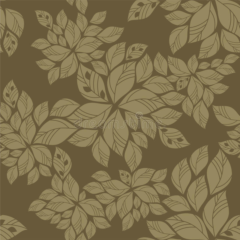 Free Seamless Green Leaves Pattern Stock Images - 17517614