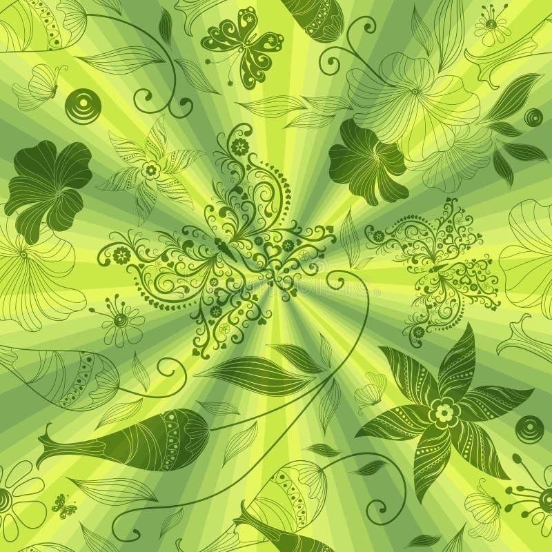 Seamless green pattern royalty free stock photo