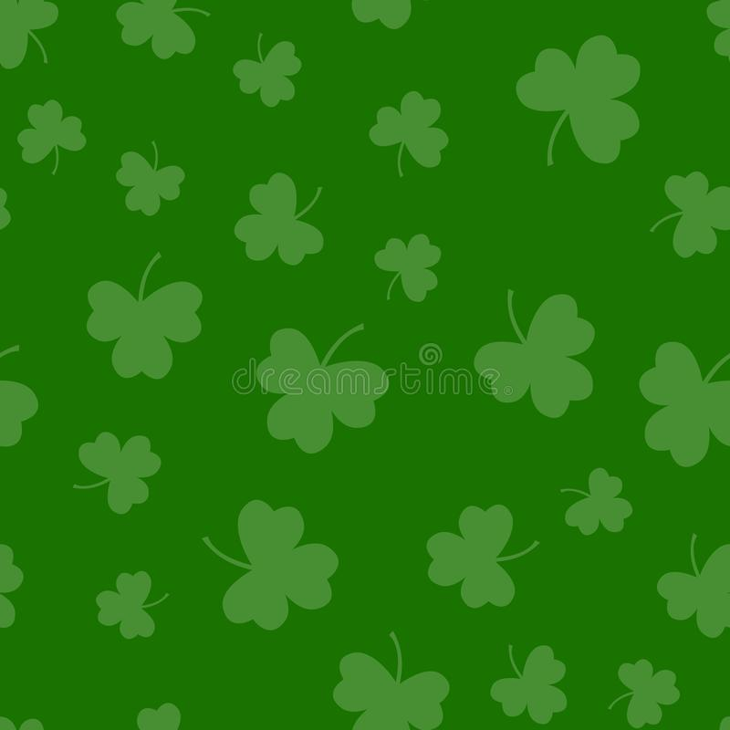 Seamless green shamrock clover leaf pattern background. Saint Patrick\'s day. Abstract and Modern concept. Geometric creative. Design stylish theme vector illustration