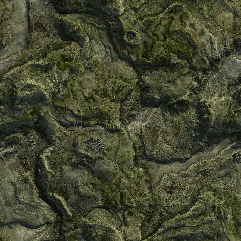 Seamless Green Terrain Background. It can be used as a texture vector illustration