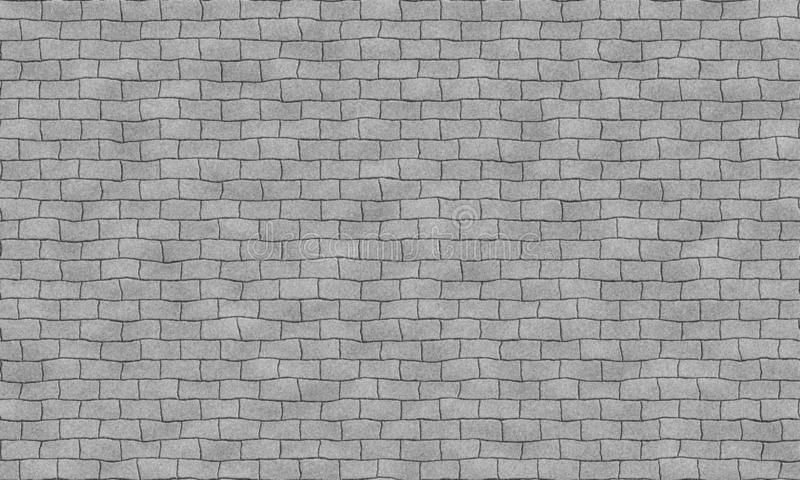 Seamless grey brick wall tile able pattern. Uneven shape. For interior, exterior render material mapping. vector illustration
