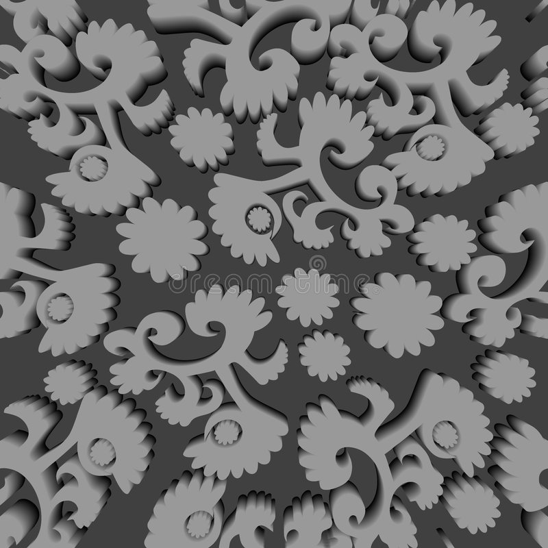 Seamless Greyscale Pattern Royalty Free Stock Image