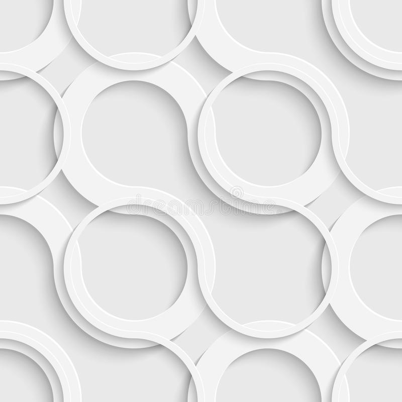 Download Seamless Grid Wallpaper 3d White Curved Background Stock Vector