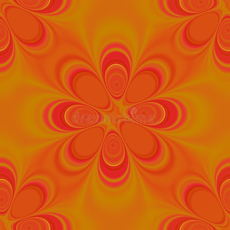 seamless groovy orange modell royaltyfri illustrationer