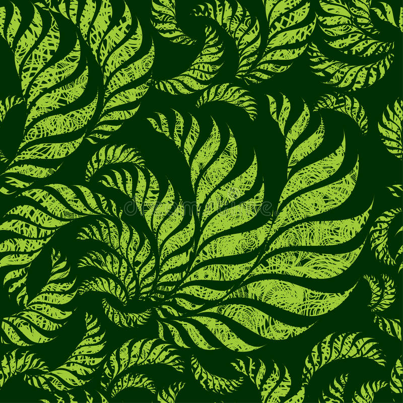 Seamless Grunge Floral Pattern Royalty Free Stock Photography
