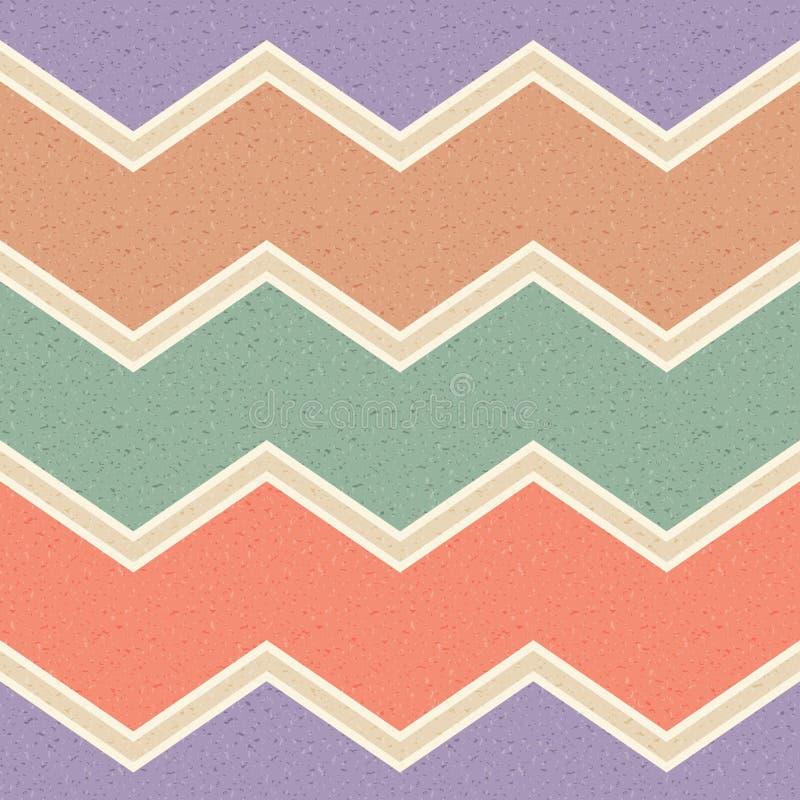 Seamless grunge zigzag paper pattern royalty free illustration