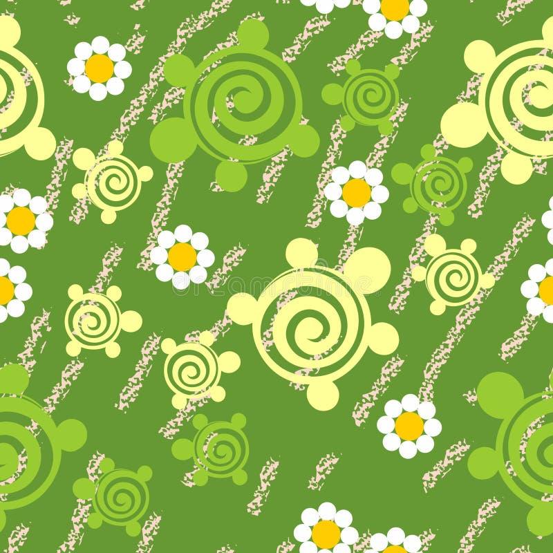 Seamless grungesköldpaddatextur 511 royaltyfri illustrationer