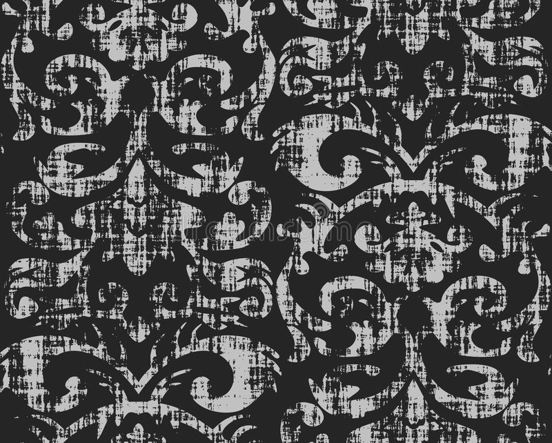 Download Seamless Grungy Wallpaper Pattern Stock Image - Image: 1592521
