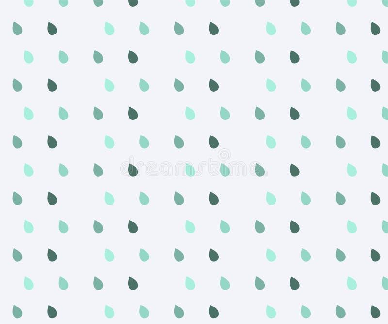 seamless gullig modell S?ml?s vattenf?rgregnmodell bl?a raindrops S vektor illustrationer