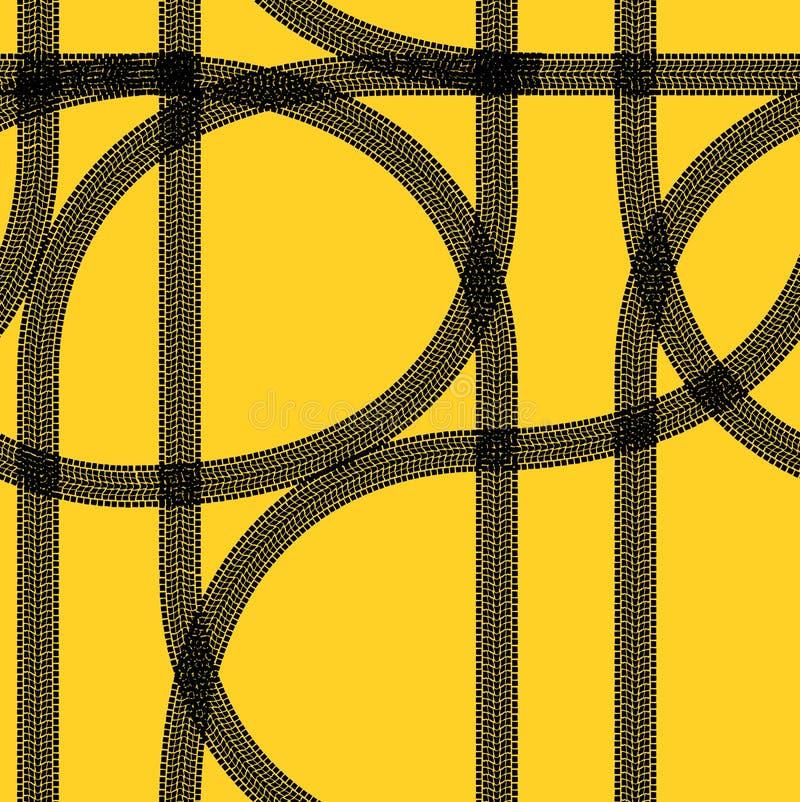 seamless gummihjulspår wallpaper vinter royaltyfri illustrationer