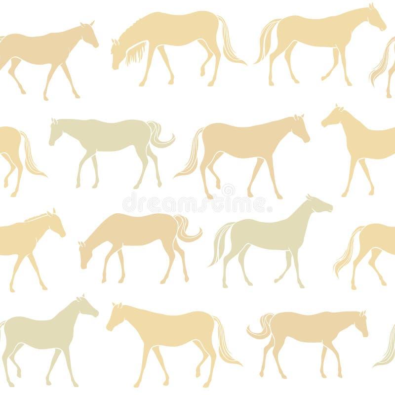 Seamless hästar mönstrar royaltyfri illustrationer