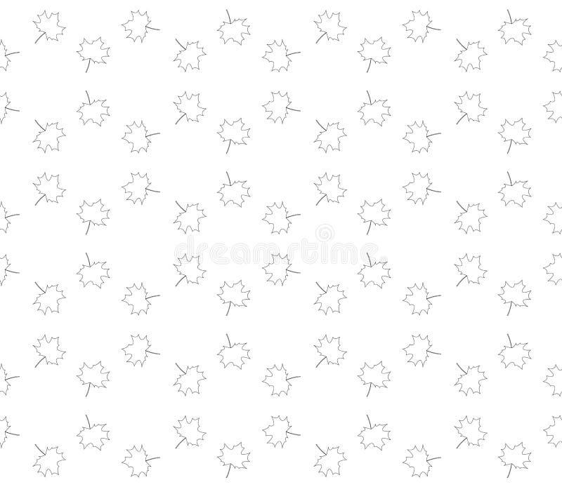seamless höstleafmodell vektor illustrationer